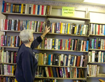 Lady looking at books